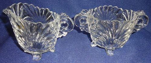 Caprice Crystal Creamer & Sugar #38 Cambridge Glass Company