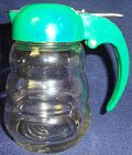 "Rolly Poly Syrup Crystal 4.5"" Green Lid"
