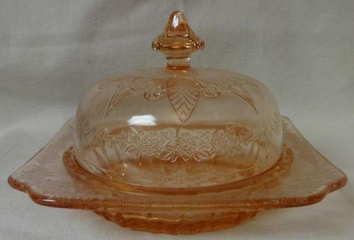 Adam Pink Butter & Lid Jeannette Glass Company