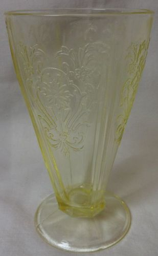 "Primo Yellow Tumbler 5.75"" 9 oz U S Glass Company"