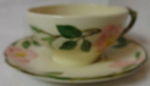 Desert Rose Cup & Saucer Franciscan Pottery