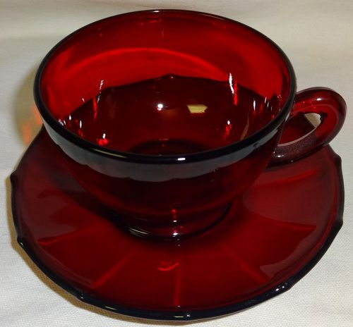 Cup & Saucer Ruby