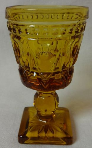 "Cape Cod Amber Cordial 3.5"" 1.5 oz Imperial Glass Company"