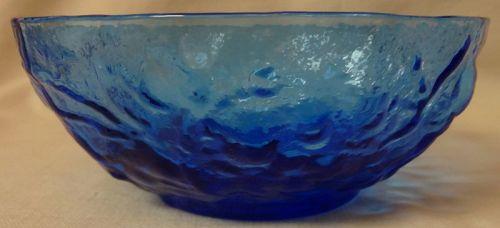 "Driftwood Delphine Blue Bowl 5"" Seneca Glass Company"