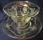 Mayflower Crystal Mayonnaise & Plate Fostoria Glass Company