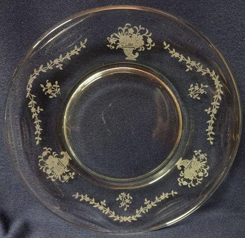 "Mayflower Crystal Plate 7.5"" Fostoria Glass Company"