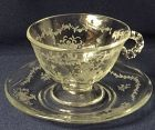 Mayflower Crystal Cup & Saucer Fostoria Glass Company