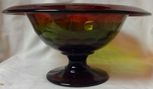 "Rubina Bowl Footed 9.5"" Span 4.75"" Tall Cambridge Glass Company"