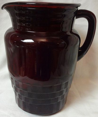 "Windsor Royal Ruby Pitcher 8.25"" Anchor Hocking Glass"