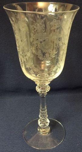 "Orchid Crystal Goblet 8.25"" 10 oz Heisey Glass Company"