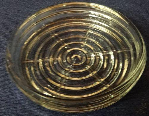 "Manhattan Crystal Coaster 3.5"" Hocking Glass Company"