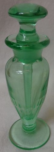 "Perfume 5.75"" Green Paden City Glass Company"