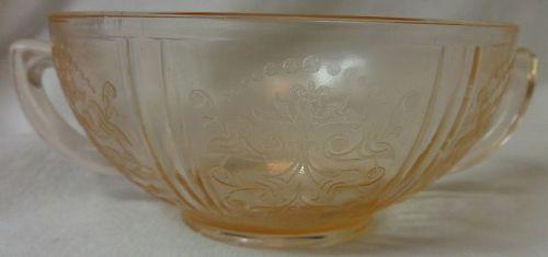 "American Sweetheart Pink Creamsoup 4.5"" MacBeth Evans Glass Company"
