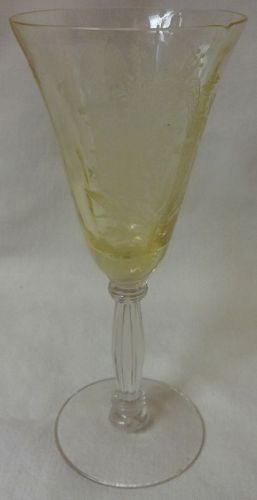 """La Fleur Mandarin Wine 6"""" Tiffin Glass Company"""