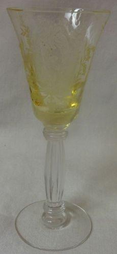 """La Fleur Mandarin Cordial 5"""" Tiffin Glass Company"""