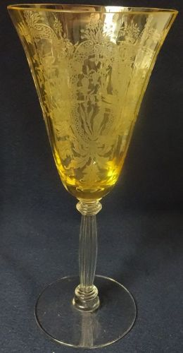 "LaFleure Mandarine Goblet 8.25"" Tiffin Glass Company"