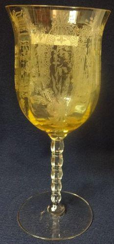 "LaFleure Mandarin Goblet 7.5"" Tiffin Glass Company"