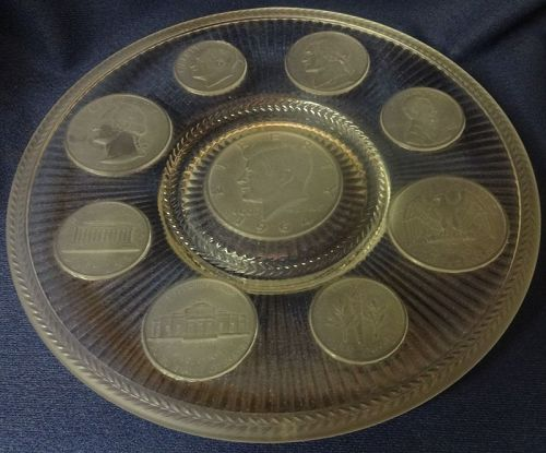 """Coin Crystal Plate 9"""""""