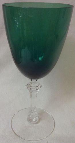 "Kilarney & Crystal Goblet 7 3/8"" Tiffin Glass Company"