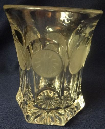 "Coin Crystal Water Tumbler Flat 4.25"" Fostoria Glass Company"
