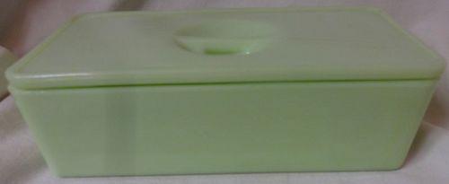 Refrigerator Dish & Lid 8 x 4 Jadeite Jeannette Glass Company