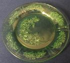 """Sharon Green Dinner Plate 9.5"""" Federal Glass Company"""