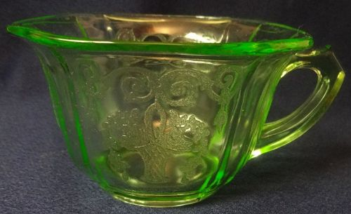 Lorain Green Cup Indiana Glass Company