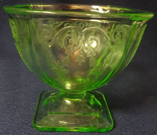 Lorain Green Sherbet Indiana Glass Company