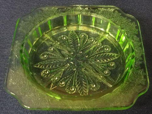 "Adam Green Coaster 3.25"" Jeannette Glass Company"