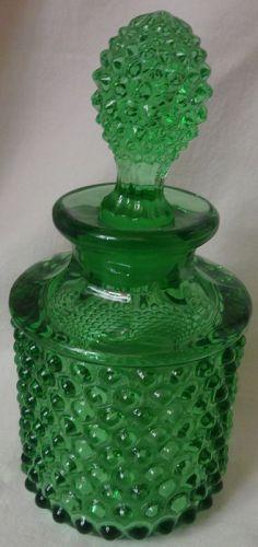 Hobnail Green Cologne Duncan Miller Glass Company