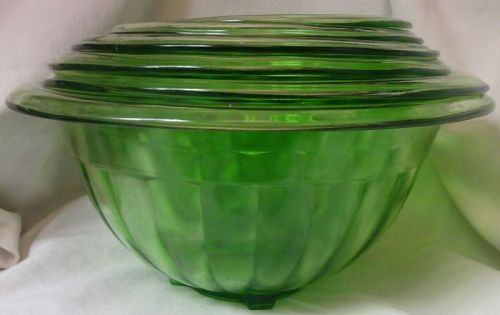 Mixing Bowl set of 6 Hazel Atlas Glass Company