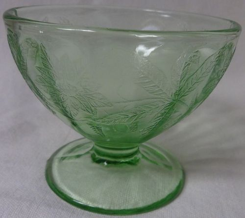 Floral Green Sherbet Jeannette Glass Company