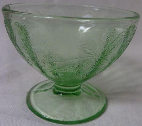 Floral Green Sherbet Jeannette Glass Company