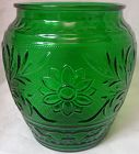 Sandwich Forest Green Cookie Jar Anchor Hocking Glass