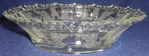 "Gazebo Crystal Relish 2 Part 6.75"" #555 Paden City Glass Company"