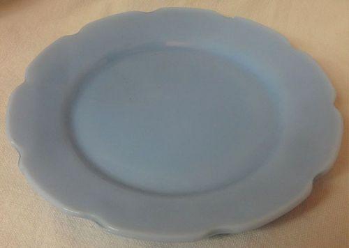 """Cherry Blossom Junior Plate 6"""" Delphite Jeannette Glass Company"""