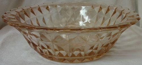 "Windsor Pink Bowl 8.5"" Jeannette Glass Company"