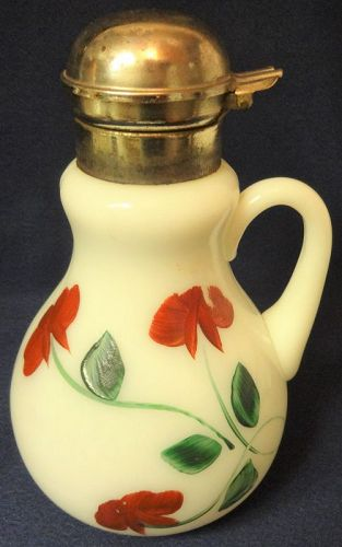 """Syrup White with Red Flower 7"""""""