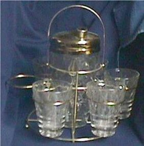 Jeannette Glass Patio Set in Box
