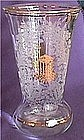 Paden City Utopia Crystal Vase gold encrusted