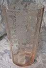 Fostoria Versailles Rose Flip Vase