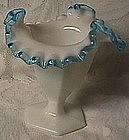 Fenton Aqua Crest Vase
