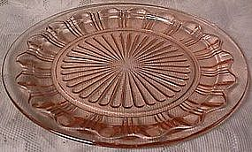 Colonial Knife and Fork Pink Dinner Plate