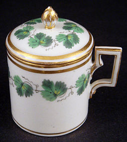 Antique Royal Vienna Pot de Crème Cup with Lid