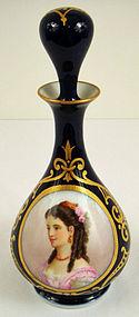 Antique French Portrait Perfume Bottle