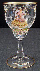 Antique Bohemian Enameled Glass