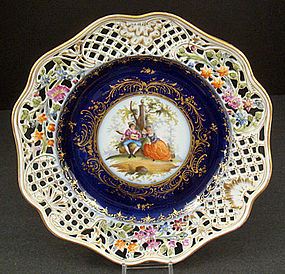 Lovely Antique Ernst Teichert Dresden Cabinet Plate