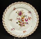 Lovely Antique Donath Dresden Scalloped Platter
