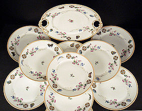 11 Antique Haviland & Co. Limoges Dessert Plates