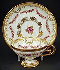Dainty Antique Dresden Demitasse Cup & Saucer